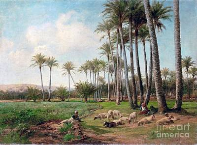 Bates Painting - An Oasis In The Desert  by MotionAge Designs