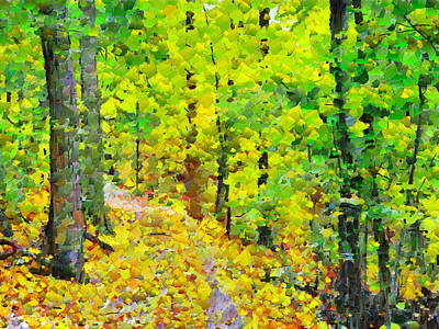 Digital Art - An October Walk In The Woods. 3 by Digital Photographic Arts