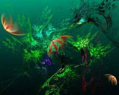 Digital Art - An Octopus's Garden by David Lane