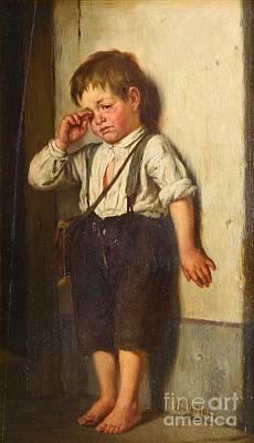 An Offended Boy Art Print