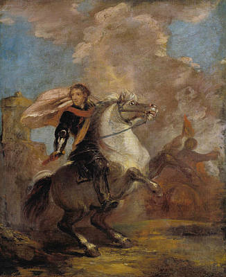 Painting - An Officer On Horseback by Joshua Reynolds