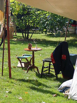 Photograph - An Officer's Tent by Margie Avellino