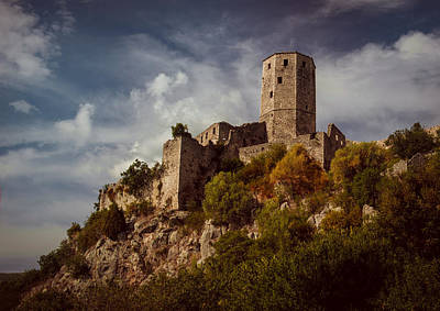 Mostar Photograph - An Old Abandoned Castle by Jaroslaw Blaminsky
