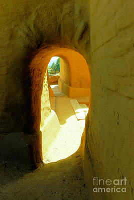 Photograph -  An Old Archway At The Pecos Mission by Jeff Swan