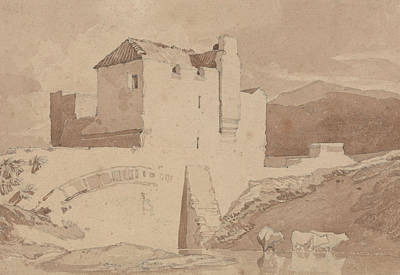 Old Building Drawing - An Old Building by John Sell Cotman