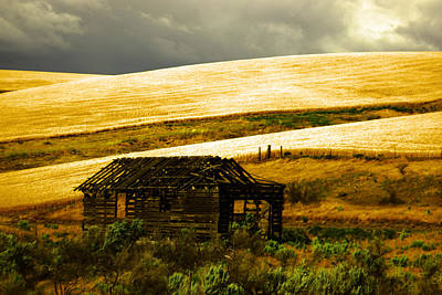 An Old Cabin In The Hills  Art Print by Jeff Swan