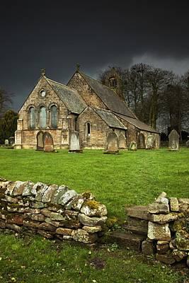 An Old Church Under A Dark Sky Art Print by John Short