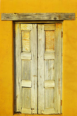 Handcrafted Photograph - An Old Door by Jeff Swan