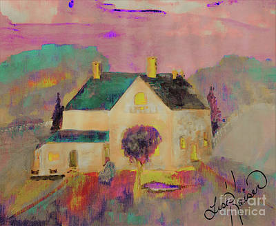 Digital Art - An Old Farmer's Home Acrylic Painting by Lisa Kaiser