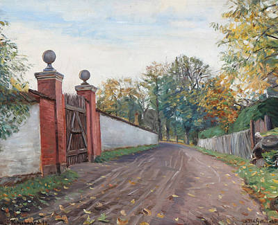 Painting - An Old Garden Gate, Kogegaard by Albert Gottschalk