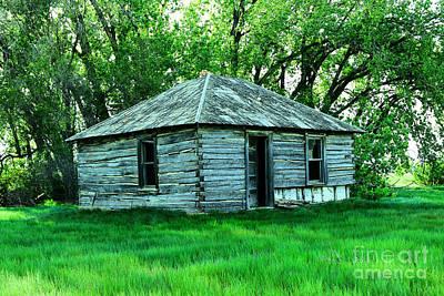 Nirvana - An old log cabin by Jeff Swan