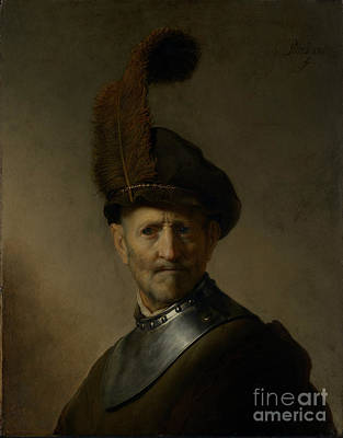 Escher Painting - An Old Man In Military Costume By Rembrandt Harmensz. Van Rijn  by Esoterica Art Agency