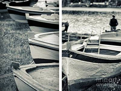 An Old Man's Boats Art Print by Silvia Ganora
