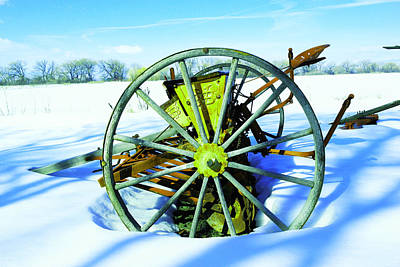 Photograph - An Old Rake In The Snow by Jeff Swan