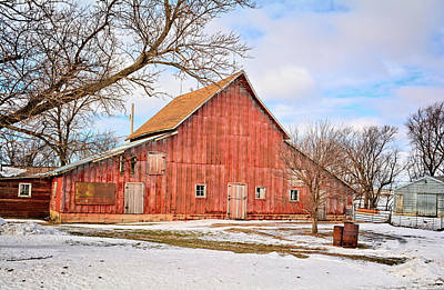 Photograph - An Old Red Barn by Bonfire Photography