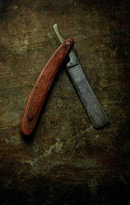 Photograph - An Old Rusty Razor by Jaroslaw Blaminsky