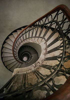 Photograph - An Old Spiral Staircase by Jaroslaw Blaminsky