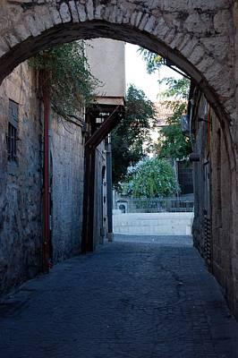 An Old Street In Jerusaem Art Print by Susan Heller