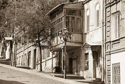 Tbilisi Photograph - An Old Tbilisi Street by John Grummitt