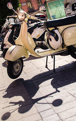 Photograph - An Old Vespa Scooter - 2 by Andrea Mazzocchetti
