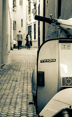 Photograph - An Old Vespa Scooter by Andrea Mazzocchetti