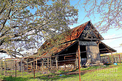 Photograph - An Old Weathered Barn by Kathy White