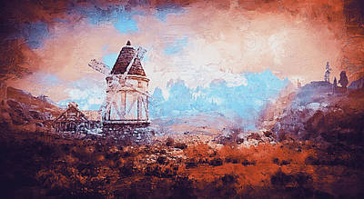 Painting - An Old Windmill  by Andrea Mazzocchetti
