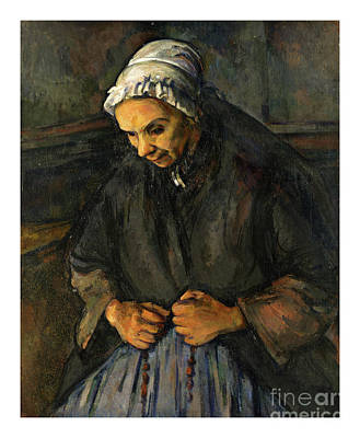 Painting - An Old Woman With A Rosary - Doc Braham - All Rights Reserved by Doc Braham
