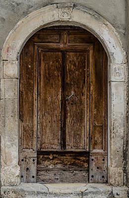 Photograph - An Old Wooden Door by Andrea Mazzocchetti