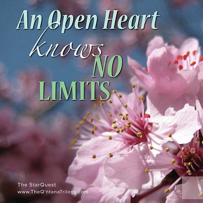 Photograph - An Open Heart Knows No Limits by Mark David Gerson