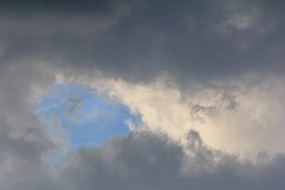 Photograph - An Opening In The Clouds by Joni Eskridge
