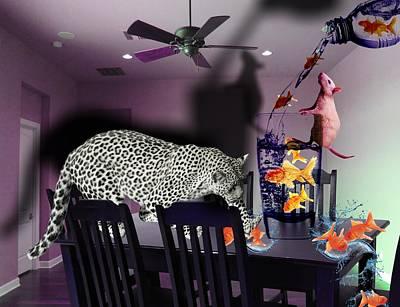 Golden Leopard Digital Art - An Opportunist Marketplace by Solomon Barroa