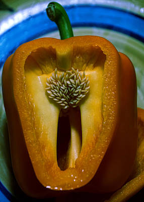 Photograph - An Orange Bell Pepper #2 by Ben Upham III