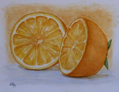 Painting - An Orange by Kelly Mills