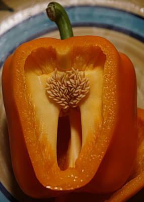 Photograph - An Orange Pepper by Ben Upham III