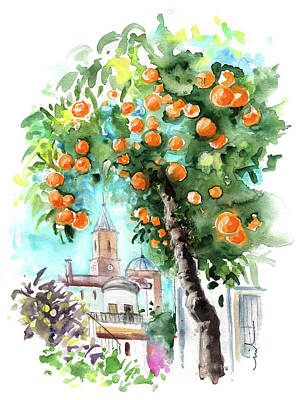 Painting - An Orange Tree In Andalucia by Miki De Goodaboom
