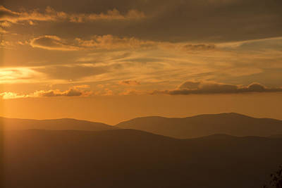Photograph - An Orange Vermont Sunset by Vance Bell