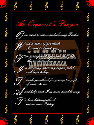 Digital Art - An Organists Prayer_1 by Joe Greenidge