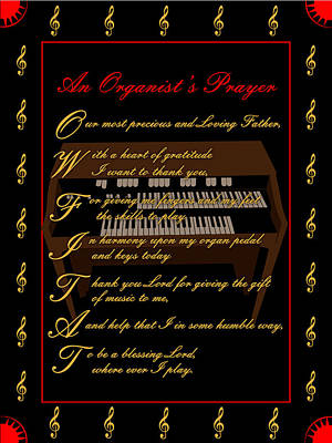 Digital Art - An Organists Prayer_2 by Joe Greenidge