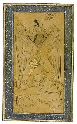 Oriental Drawing - An Ottoman Drawing Of A Peri by Eastern Accents
