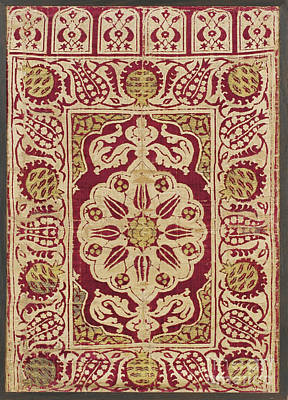 Void Painting - An Ottoman Voided Velvet And Metal-thread by Celestial Images