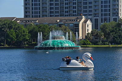 Photograph - An Outing On Lake Eola by Denise Mazzocco