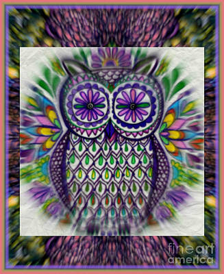 Mixed Media - An Owl In Spring by Wbk