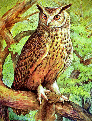 An Owl With Its Prey Art Print