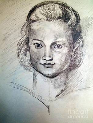 Drawing - An Unknown Study by Nancy Kane Chapman