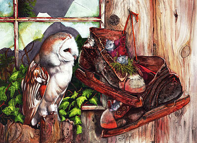 Painting - An Unwelcome Visitor by Peter Williams