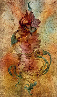 An Vintage Cherry Blosom Print by Irina Effa