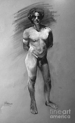 Penis Drawing - Crc008 by Mirta Rotondo