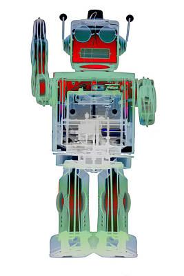 Photograph - An0d3 X-ray Robot Art No.3 by Roy Livingston