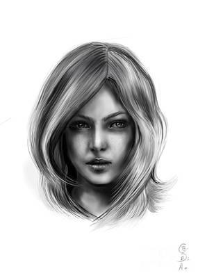 Disobedient Drawing - Ana Beth by Gabriela Tasiro